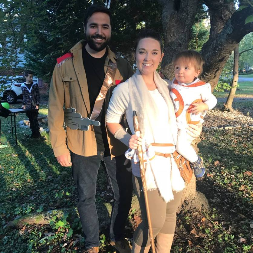 Finn, Rey and BB8